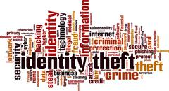 Identity theft word cloud Stock Illustration