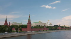 Walk along Kremlin wall hyperlapse 4K Stock Footage