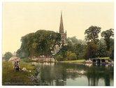 [Trinity Church from the river, Stratford-on-Avon, England] Stock Photos