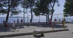 4K Primosten Beach volleyball Stock Footage