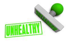 unhealthy stamp - stock illustration
