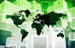 Global import export Stock Illustration