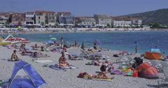 4K Primosten beach Stock Footage