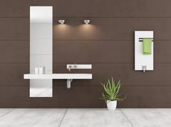Minimalist brown bathroom Stock Illustration