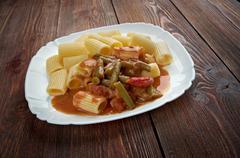 pasta rigatoni - stock photo