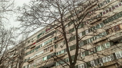 Eastern european communist architecture buildings establishments establishing Stock Footage