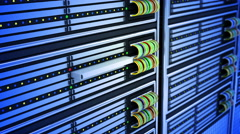 Modern Servers in Data Center Changed Hard Disk Drive. 4K - stock footage