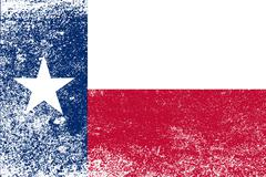 Texas state flag grunge Stock Illustration