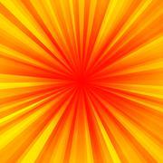 Warm regular rays centralized background Stock Illustration