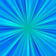 Abstract light blue centralized background of regular rays Stock Illustration
