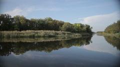 Landscape beautiful river, backwater Stock Footage