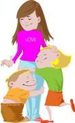 Endless love - stock illustration