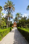 Seville alcazar garden Stock Photos