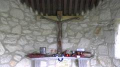 The memorial site to the Malmedy Massacre, Baugnez, near Malmedy, Belgium. Stock Footage