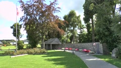 The memorial site to the Malmedy Massacre, Baugnez, near Malmedy, Belgium. Stock Footage