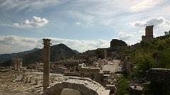 Antique city of sagalassos in turkey Stock Footage