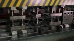 Press machine, close up Stock Footage