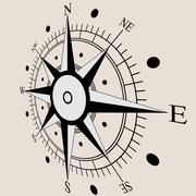 Wind rose compass flat symbols. vector illustration. Stock Illustration