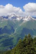 caucasus mountains, mestia, georgia - stock photo