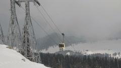 Gulmarg Gondola Ski Lift high station Stock Footage