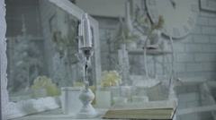 Elements of the  decor, indoor, still life Stock Footage