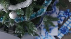 Christmas Ball on Christmas Tree. Decoration. Stock Footage