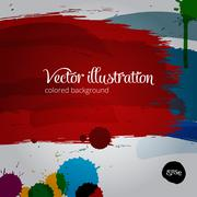 Colored  paintbrush vector illustration Stock Illustration