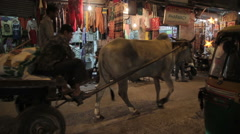 India Delhi Main Bazar Traffic 3 Stock Footage