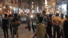 India Delhi Main Bazar Traffic 4 Stock Footage