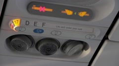 Plane indication panel Stock Footage