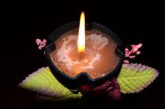Romantic candle light Stock Photos
