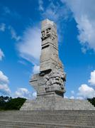 westerplatte monument - stock photo