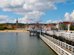 View from the pier at sopot Stock Photos