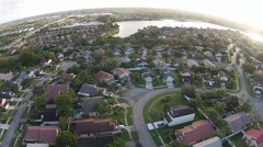 Waterfront homes in Florida - stock footage