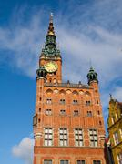 gdansk town hall - stock photo