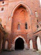 castle gate - stock photo