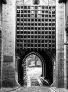 Medieval castle gate Stock Photos