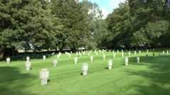 The Recogne German War Cemetery near Bastogne, Belgium. Stock Footage
