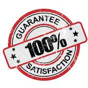 100 guarantee satisfaction grunge - stock illustration