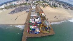 Santa Monica Aerial 1 Stock Footage