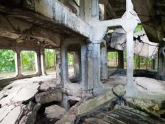 Demolished westerplatte barracks Stock Photos