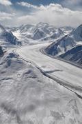 fedchenko glacier in tajikistan - stock photo