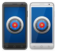 smartphone target - stock illustration