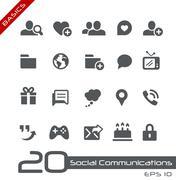Social Communications // Basics Series - stock illustration