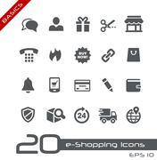 E-Shopping Icons // Basics Series Stock Illustration