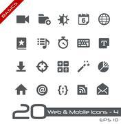 Web & Mobile Icons - 4 // Basics Series - stock illustration