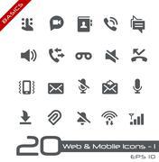 Web & Mobile Icons - 1 // Basics Series - stock illustration