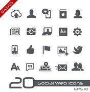 Social Web Icons // Basics Series Piirros