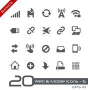 Web & Mobile Icons - 6 // Basics Series - stock illustration