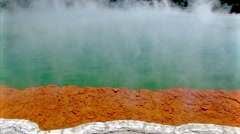 Amazing colours of Champagne Pool Stock Footage